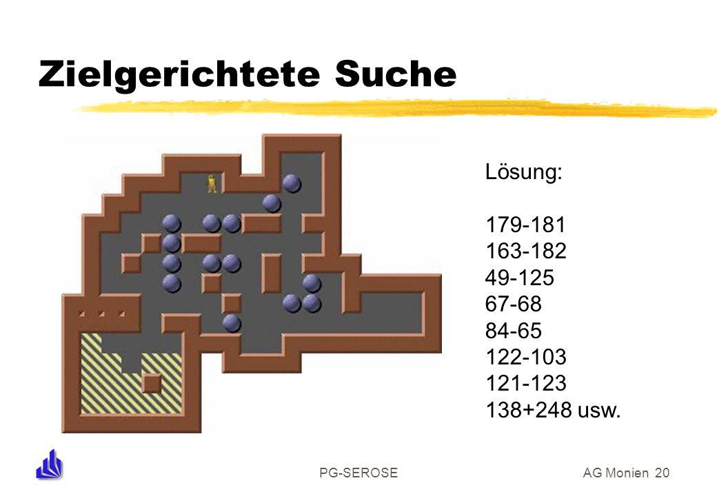 PG-SEROSEAG Monien 20 Zielgerichtete Suche Lösung: 179-181 163-182 49-125 67-68 84-65 122-103 121-123 138+248 usw.