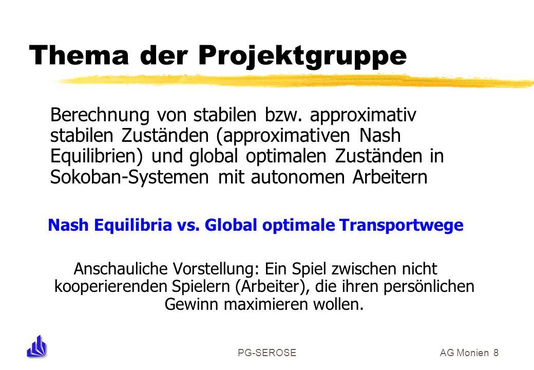 PG-SEROSEAG Monien 8 Thema der Projektgruppe Berechnung von stabilen bzw.