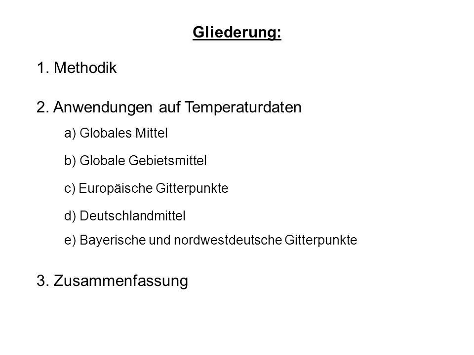 Gliederung: 1. Methodik 2. Anwendungen auf Temperaturdaten 3.