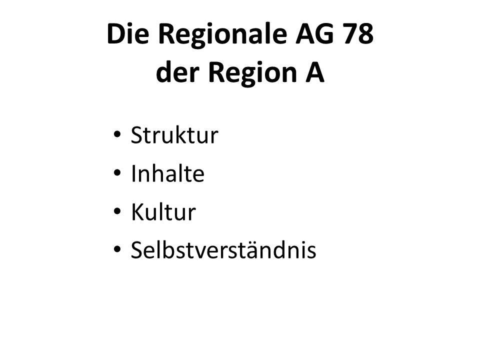 Struktur der Regionalen AG 78 A Sprecherinnen