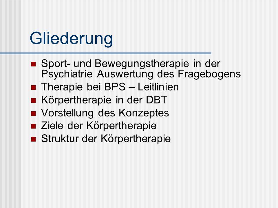 Gliederung Praxis: Basisübungen (und Anti- Dissoziationsübungen) Körperwahrnehmung Spannungsregulation/ Stresstoleranz Körpersprache