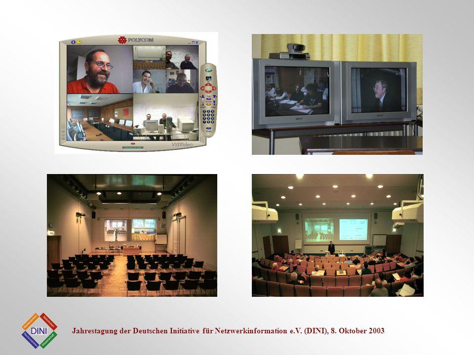 Jahrestagung der Deutschen Initiative für Netzwerkinformation e.V. (DINI), 8. Oktober 2003