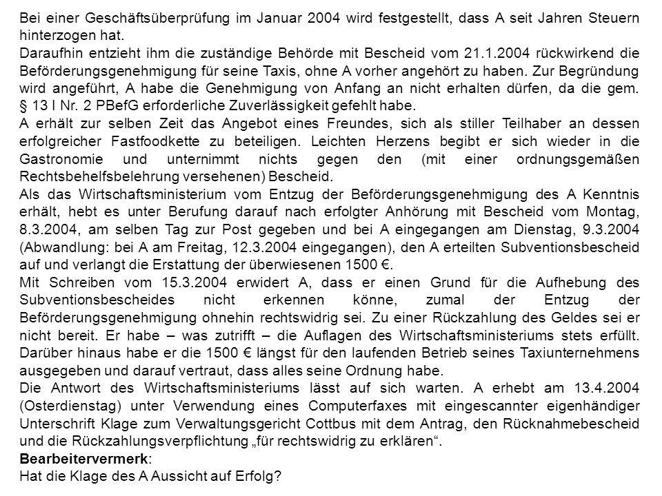 Zeittafel Frühjahr 2003LMWi initiiert Förderprogramm August 2003Förderung des A i.H.v.