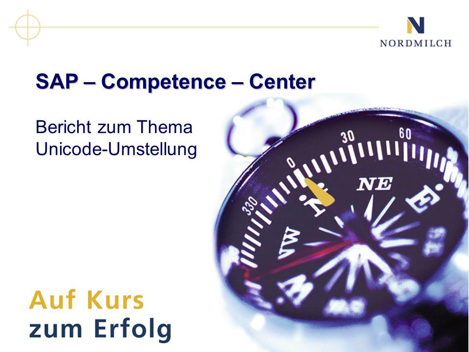 SAP – Competence – Center Bericht zum Thema Unicode-Umstellung