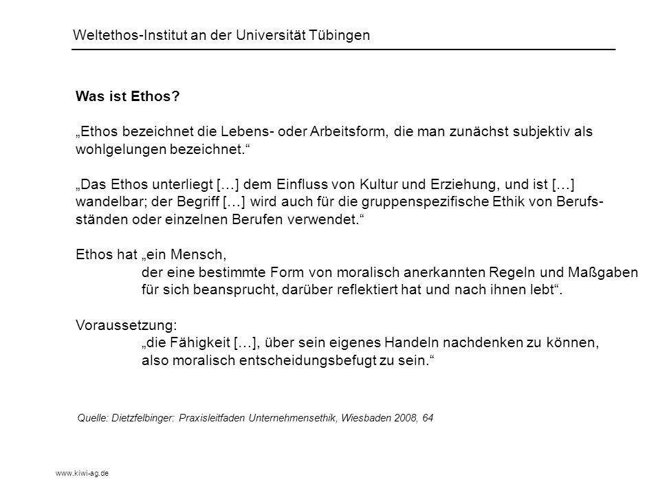 Was ist Ethos.
