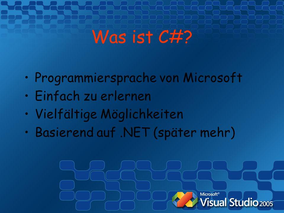 Was ist C#.
