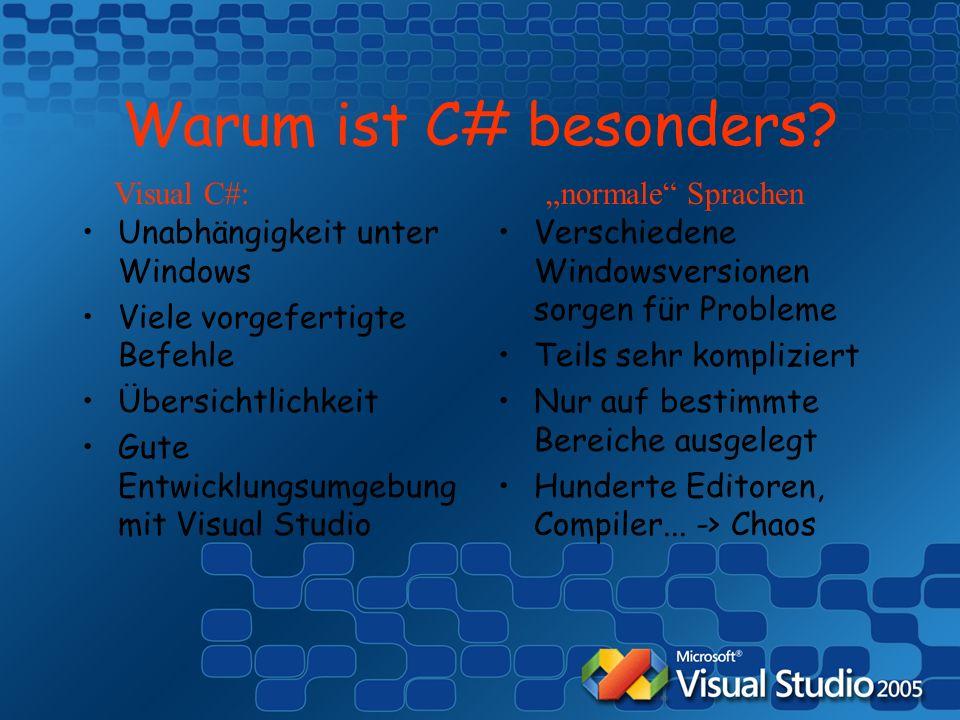 Warum ist C# besonders.