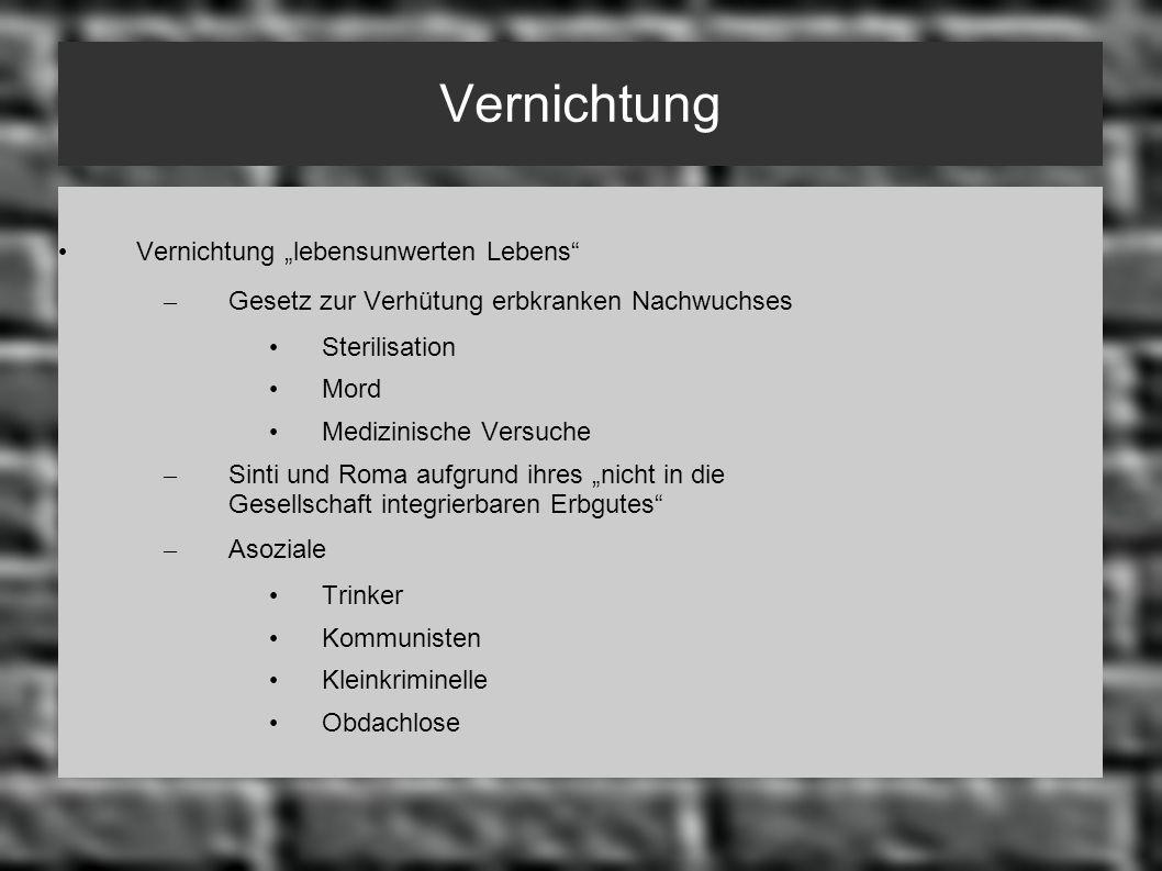Endlösung der Judenfrage 1 Stadien der Judenverfolgung seit 1933: schrittweise Entrechtung der Juden 1.
