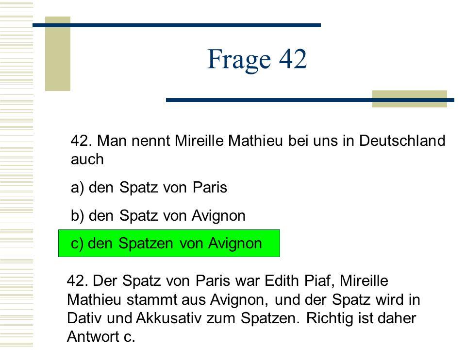 Frage 42 42.