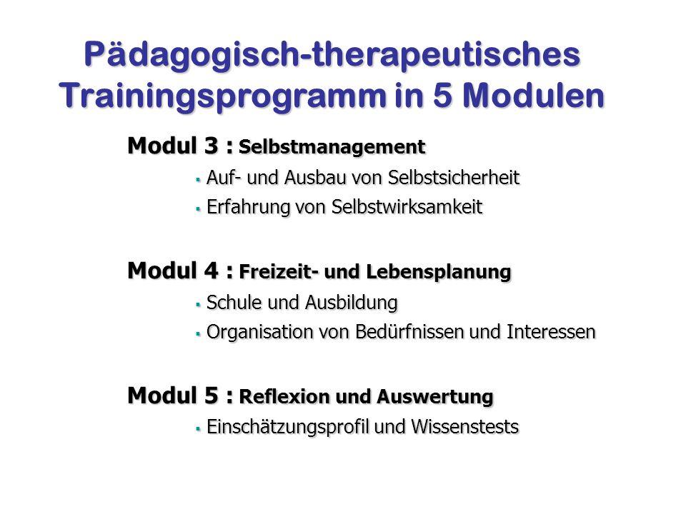 Modul 3 : Selbstmanagement Auf- und Ausbau von Selbstsicherheit Auf- und Ausbau von Selbstsicherheit Erfahrung von Selbstwirksamkeit Erfahrung von Sel