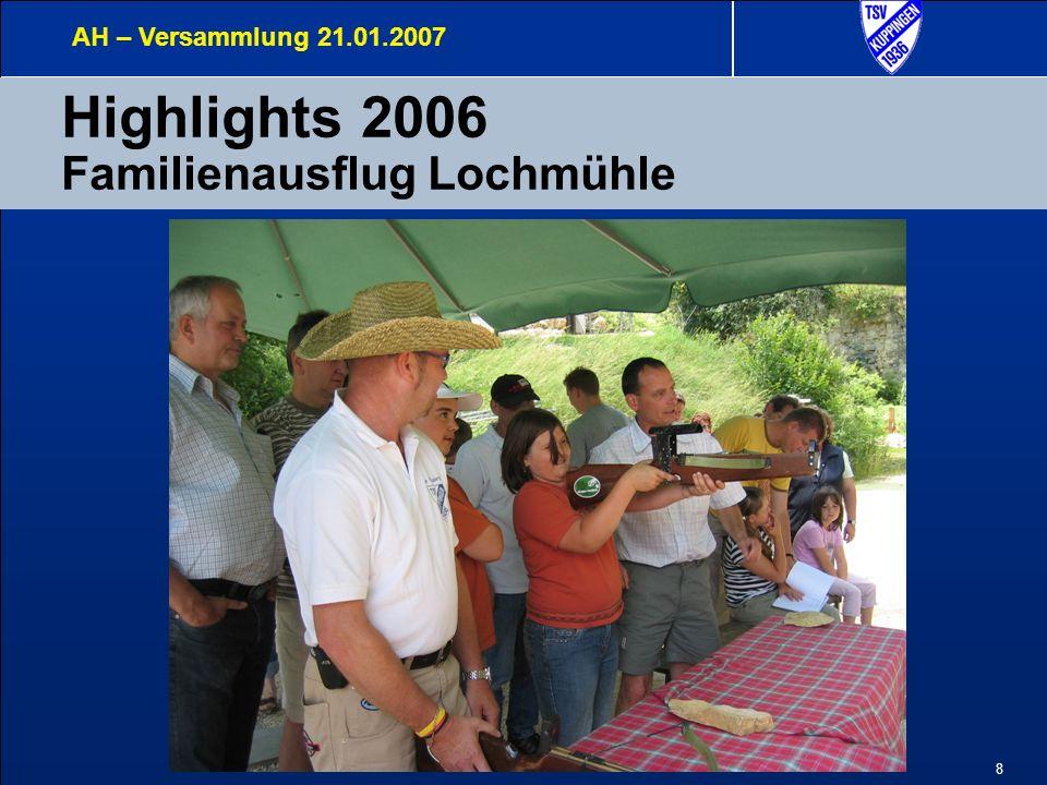 9 Highlights 2006 Familienausflug Lochmühle AH – Versammlung 21.01.2007