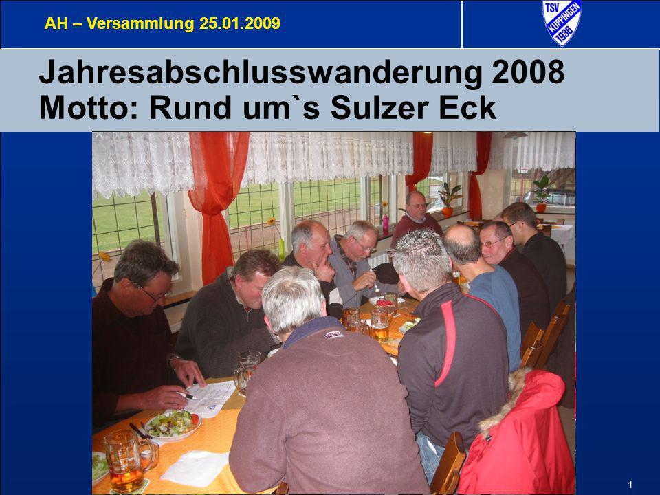 2 Highlights 2008 Jahresabschlusswanderung am 3.
