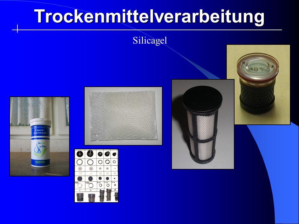 Trockenmittelverarbeitung Silicagel