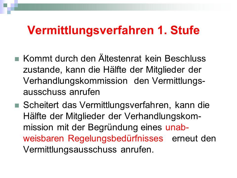 Vermittlungsverfahren 1.