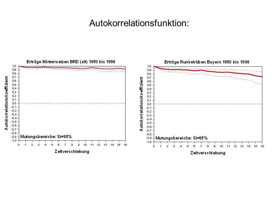 Autokorrelationsfunktion: