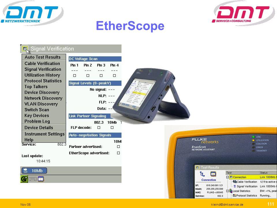 110 Nov 06kleindl©dmt-service.de OptiView Console