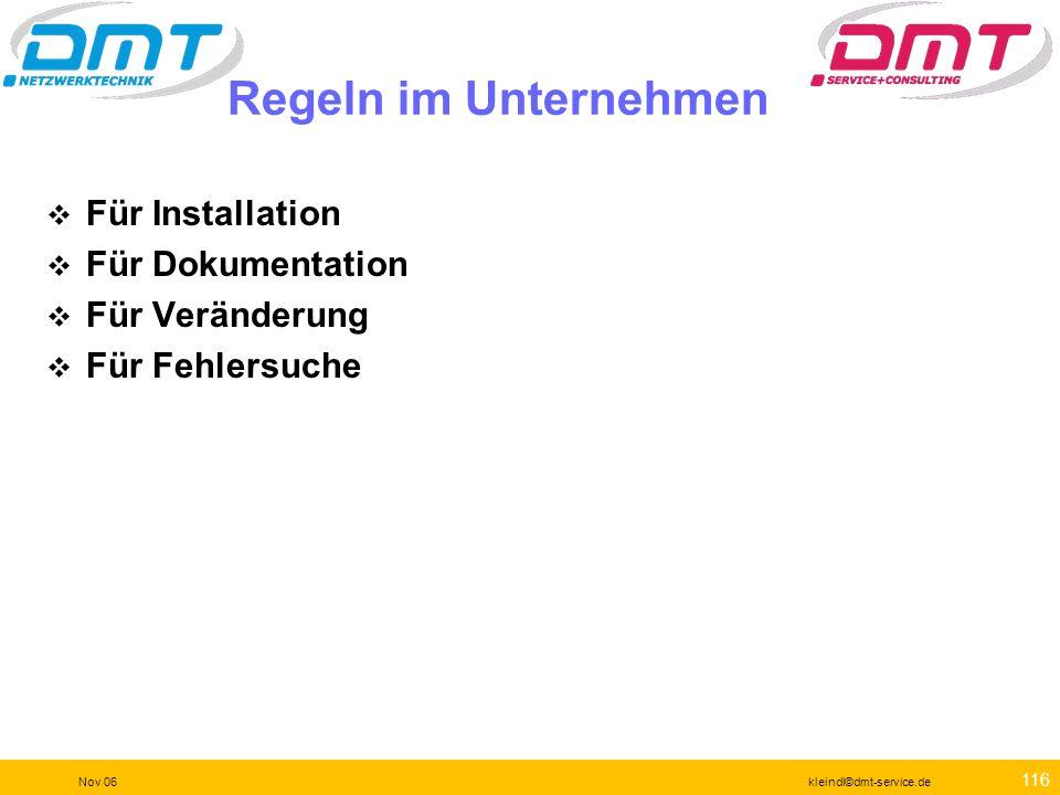 115 Nov 06kleindl©dmt-service.de NetTool Serie II Hardware-Test Inline-Test bis Gigabit Spannungs-Test Verbindungs Monitoring Parameter-Tests für Antw
