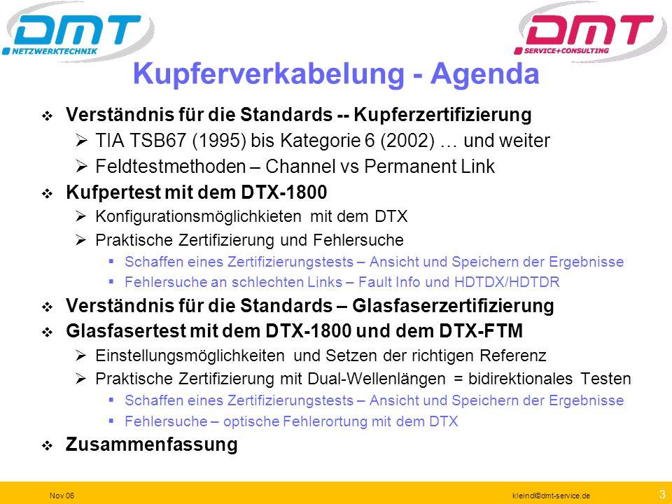 2 Nov 06kleindl©dmt-service.de Agenda 16. November 2006 1. Messmethoden mit dem DSP-4000 OO 2. Netzlast und Inventarisierung mit dem Etherscope OO 3.