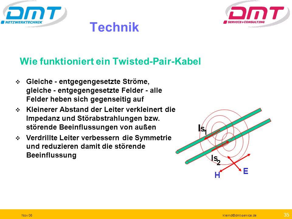 34 Nov 06kleindl©dmt-service.de Alternativer Stecker Variante 2 für Cat7