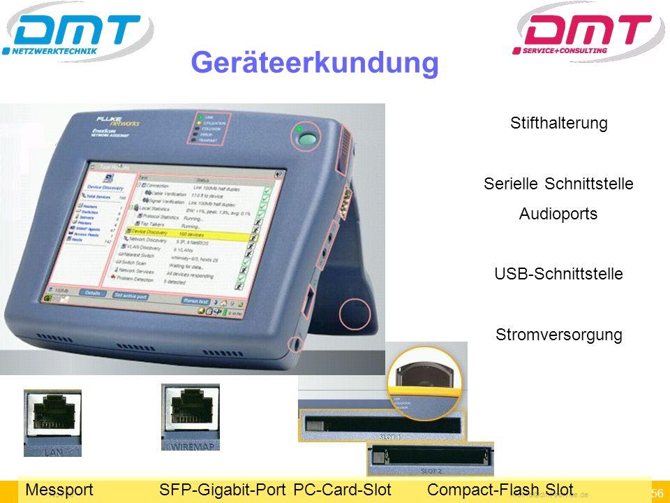 55 Nov 06kleindl©dmt-service.de Übersicht über die Oberfläche 1 Mit diesem Knopf erreicht man immer wieder diese Seite Übersicht über alle relevanten