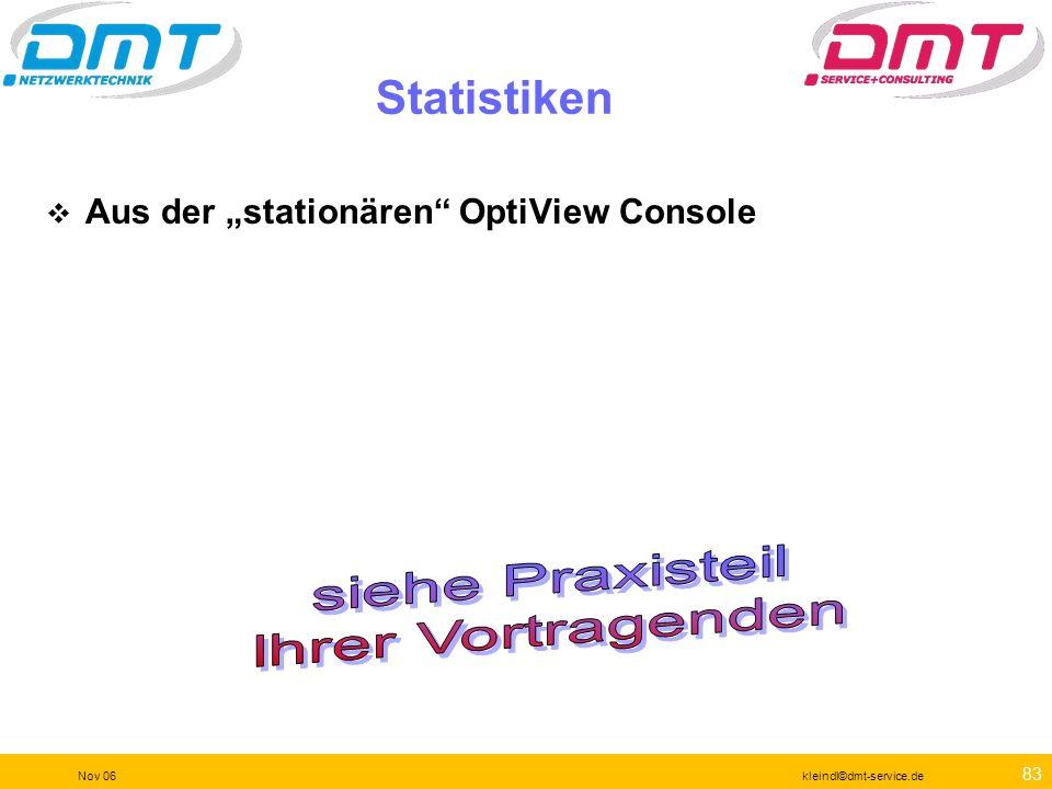 82 Nov 06kleindl©dmt-service.de Fehlersuche Identifikation von Fehlern und Rückschlüsse aus den Meldungen von OVC und OPV