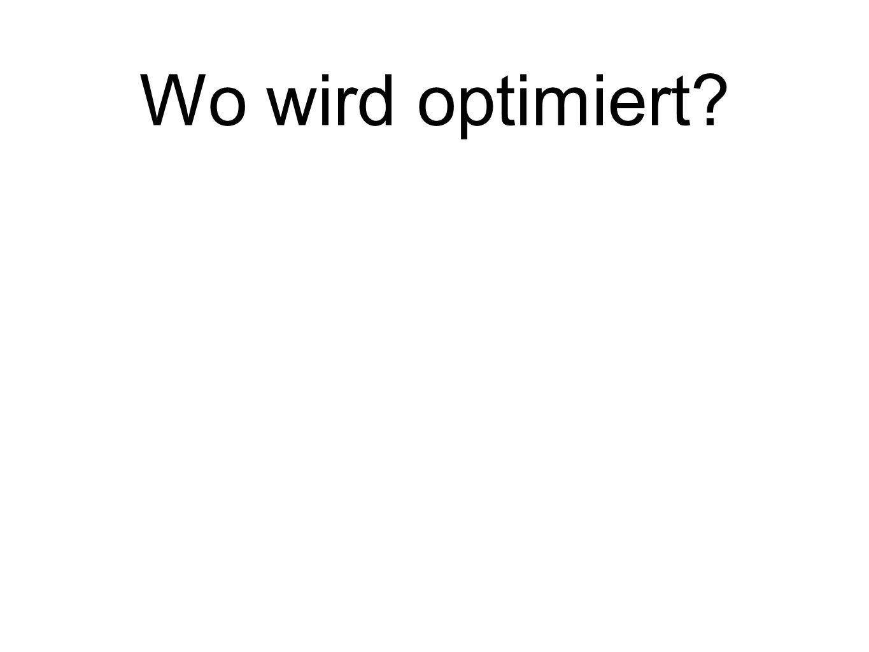 Wo wird optimiert?