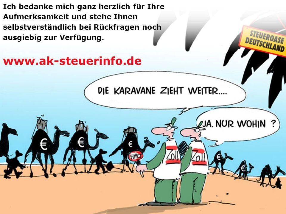 Unternehmensteuerreform 2008 www.ak-steuerinfo.de 63 Ich bedanke mich ganz herzlich für Ihre Aufmerksamkeit und stehe Ihnen selbstverständlich bei Rüc