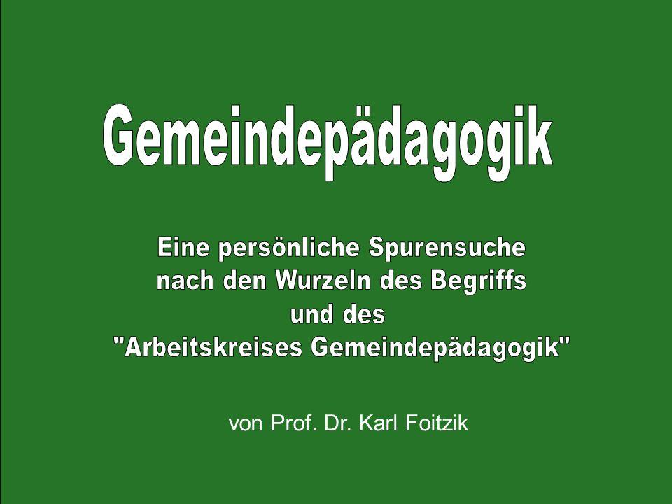 von Prof. Dr. Karl Foitzik