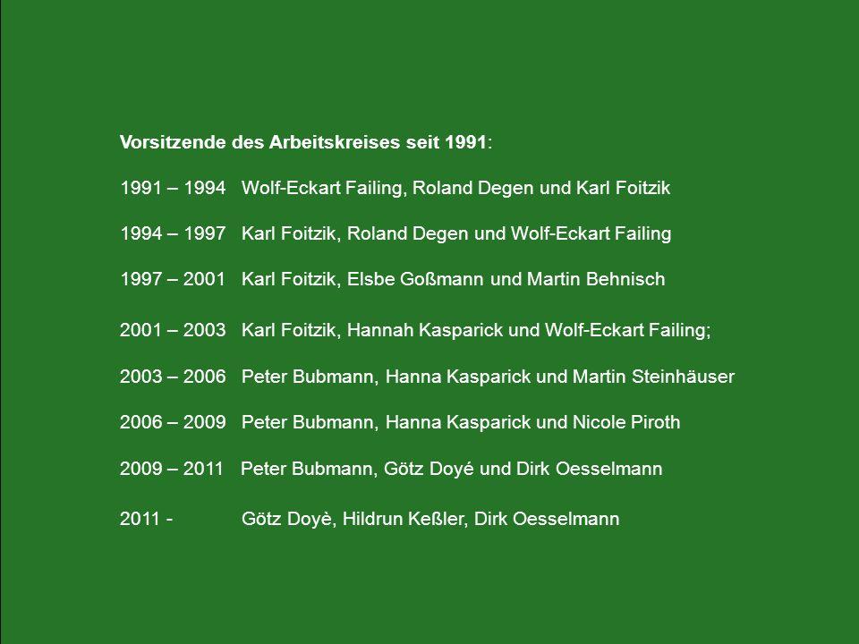 Vorsitzende des Arbeitskreises seit 1991: 1991 – 1994 Wolf-Eckart Failing, Roland Degen und Karl Foitzik 1994 – 1997 Karl Foitzik, Roland Degen und Wo