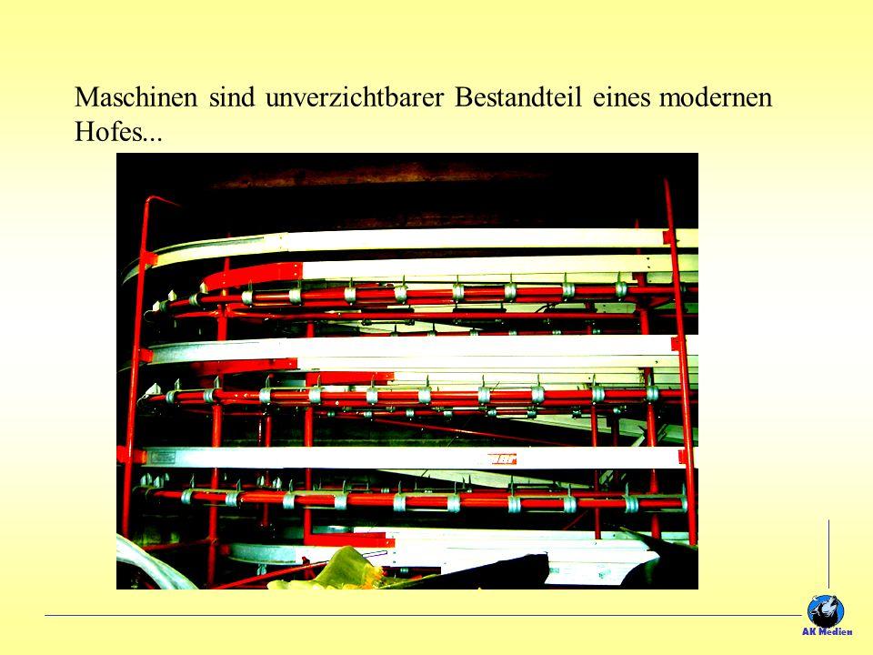 Maschinen sind unverzichtbarer Bestandteil eines modernen Hofes... AK Medien
