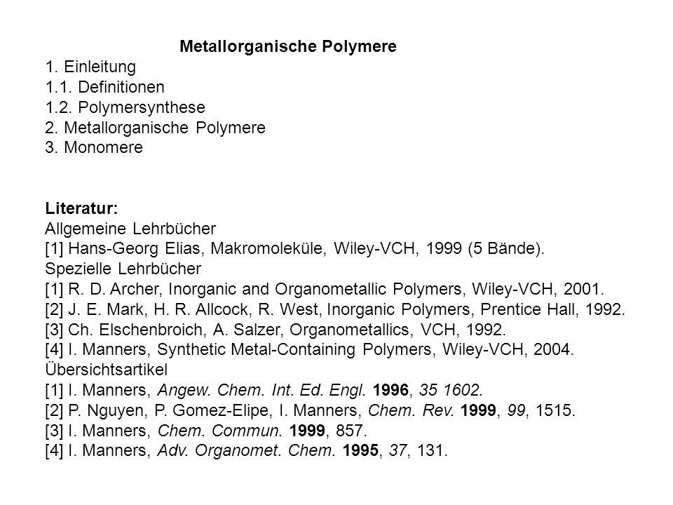 1.Einleitung Metallorganische Polymere im GRK 1221.