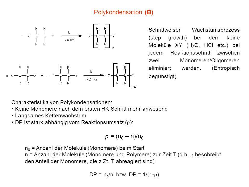Voraussetzung für hohen Umsatz ist die exakte Stöchiometrie (1:1) der Reaktanden, d.h.