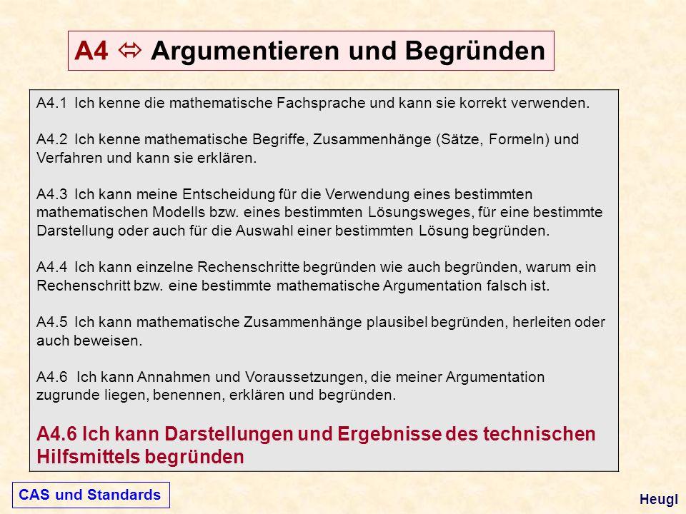 A4.1 Ich kenne die mathematische Fachsprache und kann sie korrekt verwenden. A4.2 Ich kenne mathematische Begriffe, Zusammenhänge (Sätze, Formeln) und