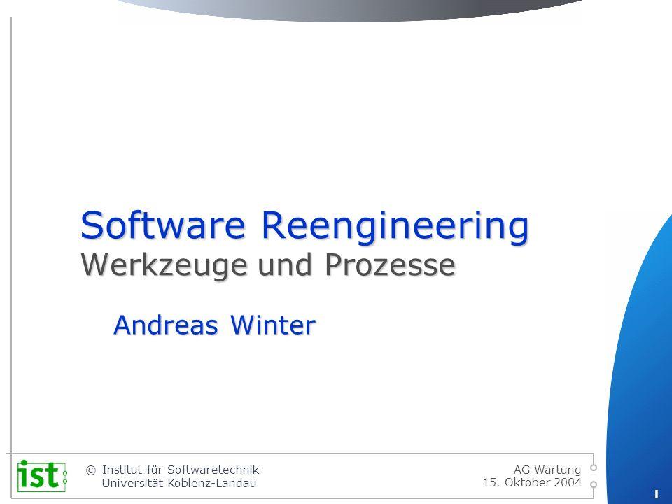 © 12 Institut für Softwaretechnik Universität Koblenz-Landau 15.