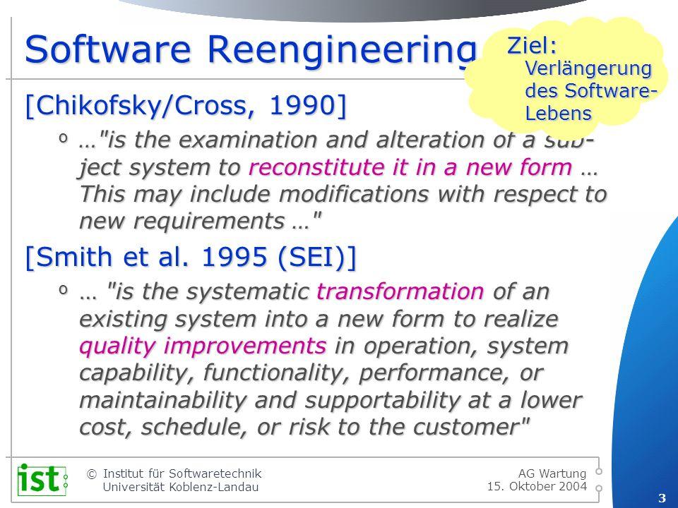© 24 Institut für Softwaretechnik Universität Koblenz-Landau 15.