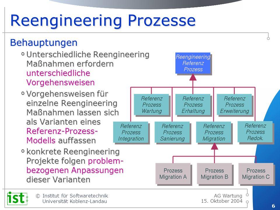 © 7 Institut für Softwaretechnik Universität Koblenz-Landau 15.