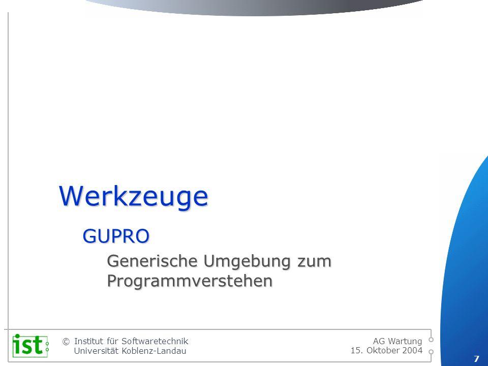 © 8 Institut für Softwaretechnik Universität Koblenz-Landau 15.