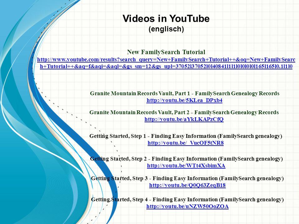 Ahnenforschung mit Familysearch.org https://www.familysearch.org/ Indexing Dieter Breithaupt1.