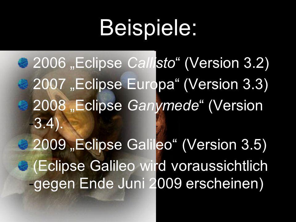 Wie funktioniert Eclipse .