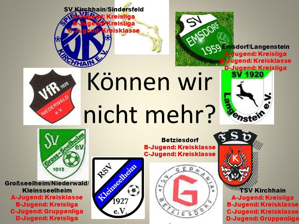 Können wir nicht mehr? Großseelheim/Niederwald/ Kleinsseelheim A-Jugend: Kreisklasse B-Jugend: Kreisliga C-Jugend: Gruppenliga D-Jugend: Kreisliga TSV