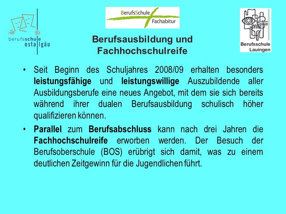 Berufsausbildung und Fachhochschulreife 7.Zeugnisse Die Zeugnisse (10./11.