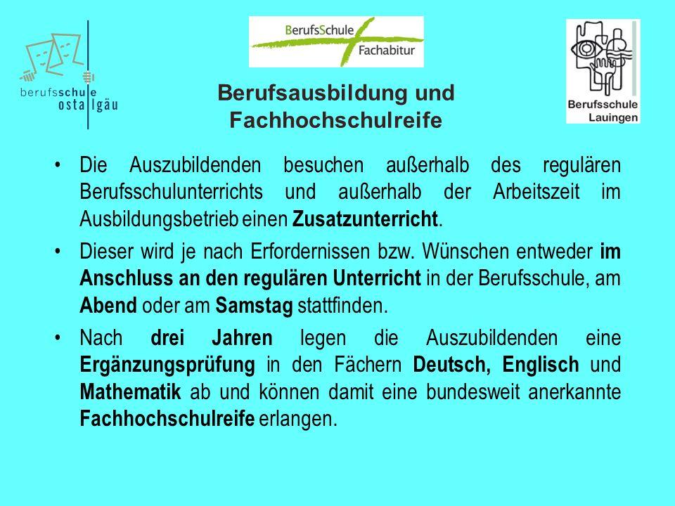 Berufsausbildung und Fachhochschulreife 8.