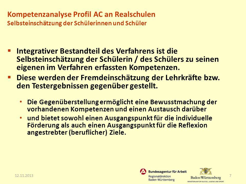 12.11.20138 Beobachtung in vorher festgelegten Beobachtungssituationen Fremdeinschätzung (Ergebnis/Konsens der Beobachterkonferenz) Selbsteinschätzung (Schülerinnen und Schüler) Rückmeldung an die Schülerin bzw.