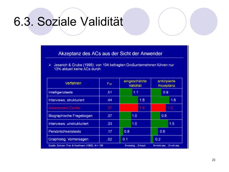 26 6.3. Soziale Validität