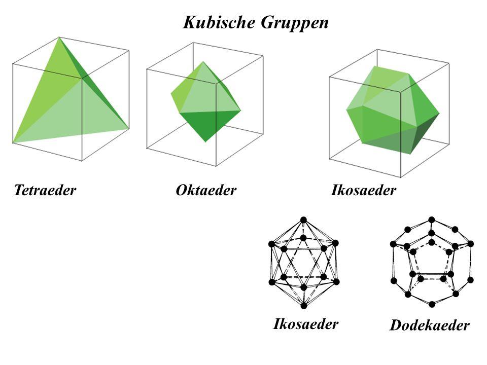 Kubische Gruppen Tetraeder Oktaeder Ikosaeder Ikosaeder Dodekaeder