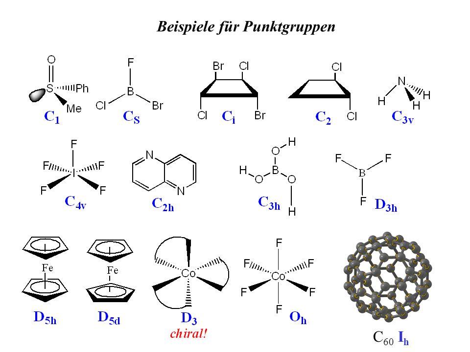 C 60 I h Beispiele für Punktgruppen