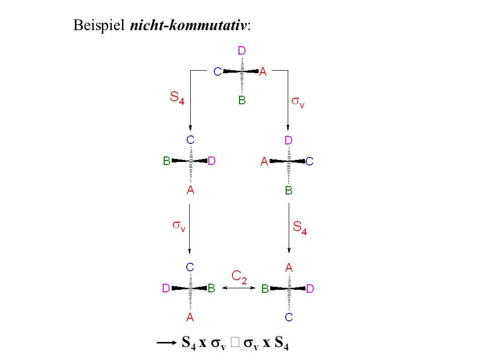 Beispiel nicht-kommutativ: S 4 x v v x S 4