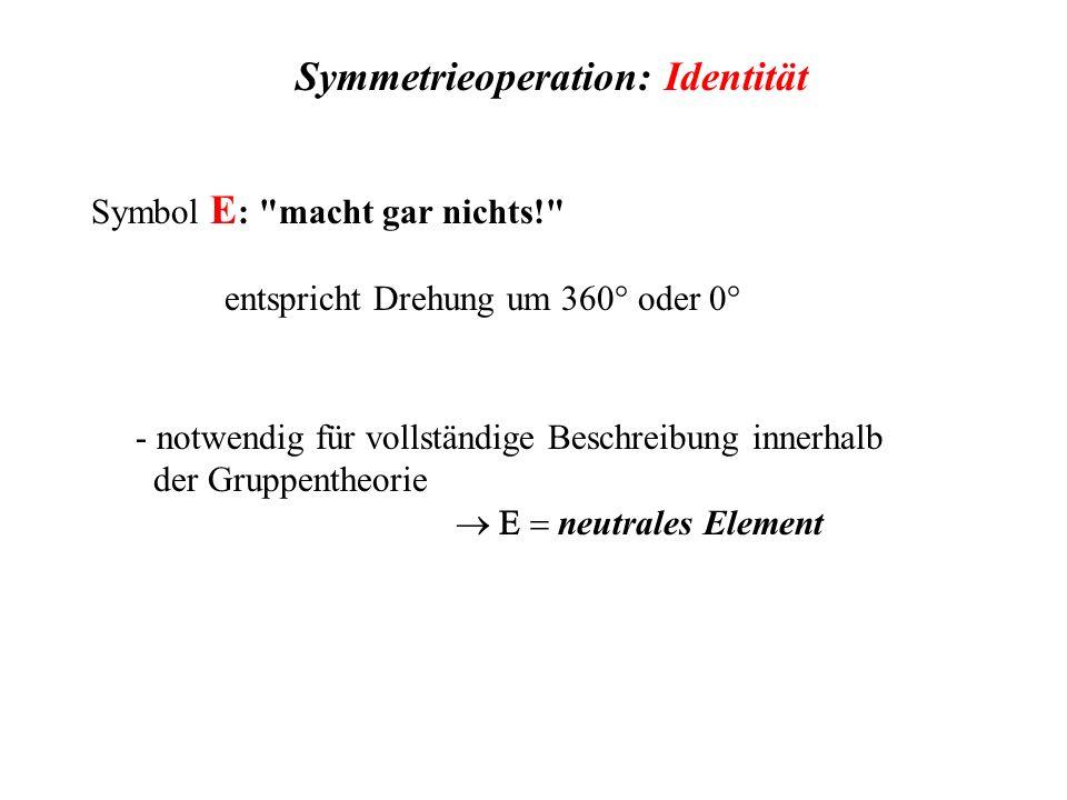 Symmetrieoperation: Identität Symbol E :