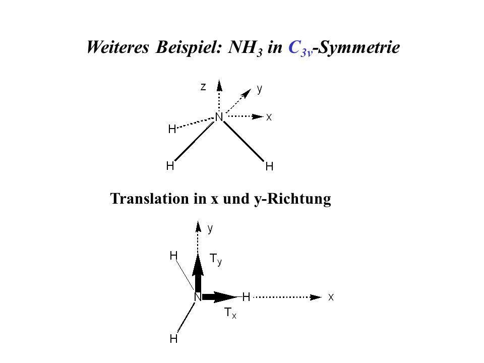 Weiteres Beispiel: NH 3 in C 3v -Symmetrie Translation in x und y-Richtung