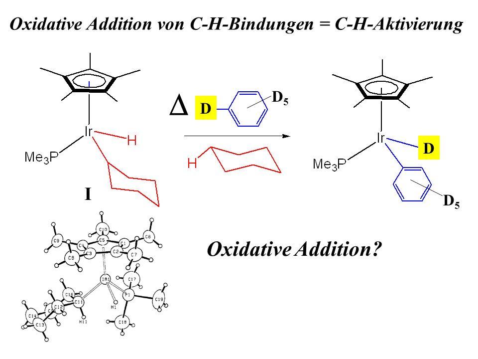 Oxidative Addition? D D D5D5 D5D5 I Oxidative Addition von C-H-Bindungen = C-H-Aktivierung
